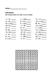 Integers on a number line worksheet example eureka g7m2 practice adding and subrtacting with positive and negative numberslor the ibookread ePUb