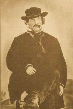 This is a picture of Lucian Maxwell, the father of Pete and Paulita Maxwell. Texas History, Family History, William H Bonney, Outlaw Women, Pat Garrett, Old West Photos, Wyatt Earp, Billy The Kids, Cowboys