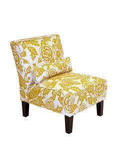Skyline Armless Chair (Yellow Canary)