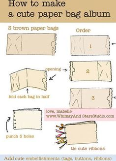 How to make a paper bag album!  Easy craft for students to create their Chris Van Allsburg scrapbook.  Easy & fun extra credit opportunity.