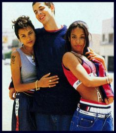 Kadida Jones (Quincy Jone's daughter), some tall loser and Aaliyah for Tommy Hillfiger