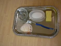 Some great ideas for for practical life trays!