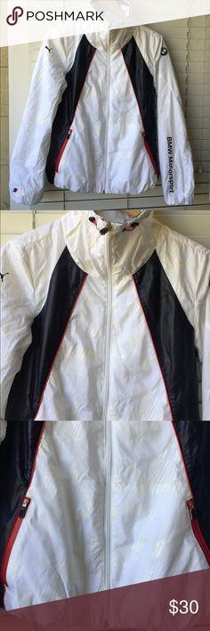 Puma BMW Lightweight Windbreaker Jacket Shell 100% Polyester Lining 1 100% Polyester Lining 2 100% Nylon Puma Jackets & Coats