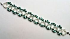 Go Green Bracelet 3. Beading jewelry pattern for beginners