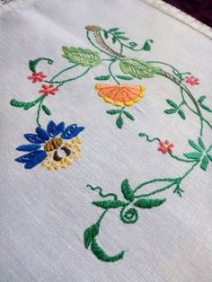Vintage white linen & cotton tablecloth with Amazing by Retroom, $14.00