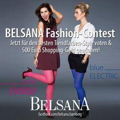 Welchem BELSANA Trendfarben-Style gibst Du Deine Stimme? Kommentiere das Foto mit Deinem Lieblings-Outfit und gewinne 500 € Shopping-Geld! Die Bloggerin mit den meisten Kommentaren gewinnt den BELSANA Fashion-Contest. https://www.facebook.com/belsana.bamberg