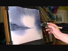 Loch Goil Watercolour Painting Lesson Part 1 - Video Lessons of Drawing & Painting Watercolor Art Lessons, Watercolor Video, Watercolour Tutorials, Painting Lessons, Watercolor Techniques, Watercolour Painting, Painting Techniques, Painting & Drawing, Watercolours