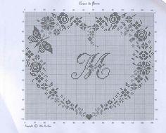 Gallery.ru / Фото #4 - Coeur De Fleurs - mantecada Cross Stitch Heart, Cross Stitch Borders, Cross Stitch Alphabet, Modern Cross Stitch, Cross Stitch Designs, Cross Stitching, Cross Stitch Embroidery, Cross Stitch Patterns, Filet Crochet