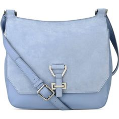 Nine West Roxanne Leather Crossbody ($100) ❤ liked on Polyvore featuring bags, handbags, shoulder bags, clutches, leather purses, cross-body handbag, leather cross body handbags, blue leather purse and leather cross body purse