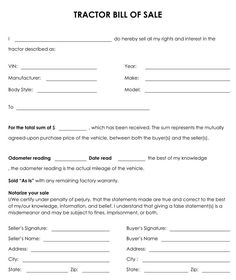 online bill of sale form free