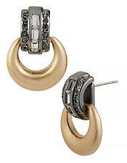 Pendants d'oreilles Deco Glam en métal et en verre