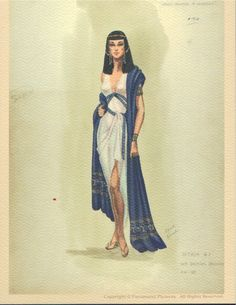 I like this sketch because it looks like something that Cleopatra would wear in a play or movie.