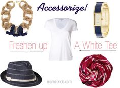 I wear them SO SO often ~ love this =) A white tee doesn't have to be boring.