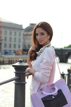 The Dior Diorissimo Bag | Melissa Melita Model, August 2014
