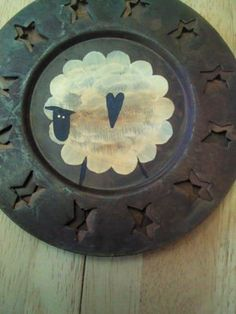 Hand Painted Rustic Sheep hanging / Rusty by FamiliesStick2Gether, $8.00