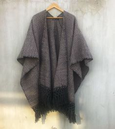Poncho Espadín Mexican Design, Product Page, Boho, Kimono Top, Women, Fashion, Ponchos, Fabrics, Moda