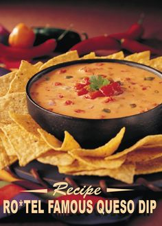 RO*TEL Famous Queso Dip – a famously classic dip recipe that will make everyone want to double-dip at your next party!