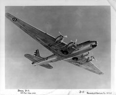 Boeing XB-19 in flight.  The XB-19 was an experimental heavy bomber which was a predecessor to the B-17, B-24, and B-29 Williams Air Force Base, Chandler, Arizona.