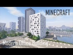 Minecraft Modern Office Building 5 (full interior) + Download - YouTube Minecraft Mods, Minecraft Modern City, Minecraft Skyscraper, Minecraft Building Designs, Minecraft Villa, Minecraft Posters, Minecraft City Buildings, Minecraft Mansion, Minecraft Castle