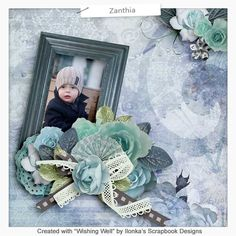 Wishing Well by Ilonka's Scrapbook Designs is a classic kit wtih a little touch of vintage in wonderful blue, green and grey colors.   http://www.digiscrapbooking.ch/shop/index.php?main_page=index&manufacturers_id=131&zenid=505e549644797992fb6f20f38872706b  http://www.godigitalscrapbooking.com/shop/index.php?main_page=index&manufacturers_id=123  https://www.etsy.com/shop/Ilonkas?ref=hdr_shop_menu