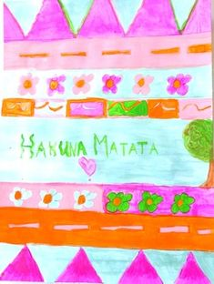 Akuna Matata Poster Fun History Lesson and Art Project Activity Bulletin Board Joy Art, Inspirational Posters, Common Core Standards, Art Lessons, Art Projects, Activities, Detail, History, Learning