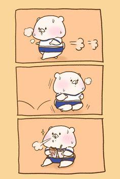 さいきたむむ (@tamsorogi) さんの漫画   99作目   ツイコミ(仮) Cute Characters, Fictional Characters, Bear Art, Cute Pins, Cute Images, Sanrio, Cute Drawings, Chibi, Anime