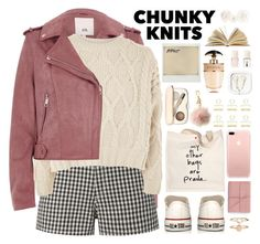 """2612. Get Cozy: Chunky Knits"" by chocolatepumma ❤ liked on Polyvore featuring River Island, rag & bone, Topshop, Converse, Prada, Bynd Artisan, Accessorize, Jane Iredale, Michael Kors and Kikkerland"
