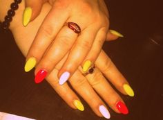 #neon #nails #simple