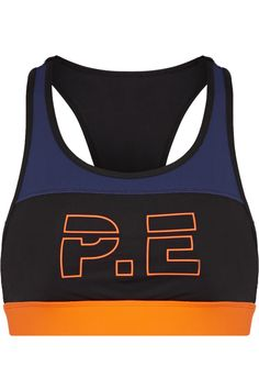 e Nation For The Count Color-block Printed Stretch Sports Bra In Black What Boys Like, Best Sports Bras, Racerback Sports Bra, Healthy Women, Beautiful Outfits, Beautiful Clothes, Active Wear, Shoe Bag, Count