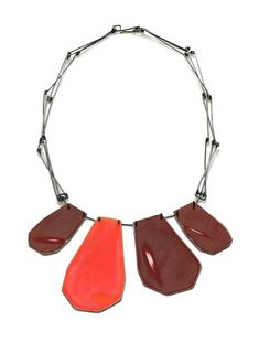 Necklace, sterling silver, spray paint, 2010, Image by Hank Drew