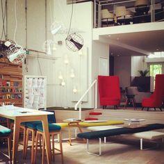 Sunny #friday afternoon #Clerkenwell #furniture #showroom #madeinbritain #design @innermostdesign @byluum #light #installation #dgm #award London 2016, Furniture Showroom, Retail Space, Light Installation, Friday, Spaces, Bed, Table, Design