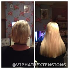 "Mini micro ring hair extensions 16"" Blonde"