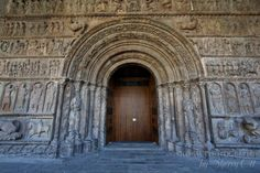 The portal is an example of Catalan Romanesque sculpture - Santa Maria de Ripoll, Pyrenees