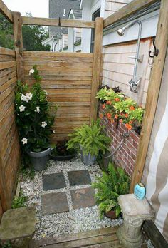 Outdoor Shower Drainage Ideas6