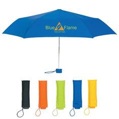 "Keep your customers dry with this Bella Umbrella! Featuring a 39"" arc…"