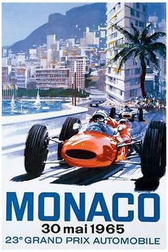 Classic poster monaco #reproduction #motorsport #print grand prix formula 1 1965 ,  View more on the LINK: 	http://www.zeppy.io/product/gb/2/182369807656/