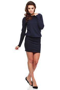 Hooded Dresses – Terry knit plain dress - navy blue – a unique product by MOE_sklep via en.DaWanda.com