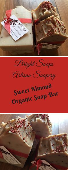 Organic soap bar made with raspberry seeds and moisturizing shea butter. Handmade with love by Bright Soaps.