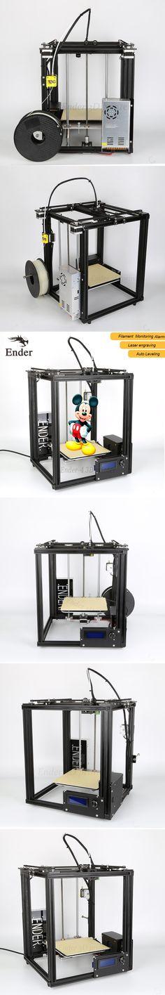 2017 Hot Sale Ender-4 3d printer laser,Auto Leveling,Filament Monitoring Alarm protect,Prusa I3 3D printer n 5M filament+Hotbed