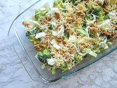 Broccoli casserole with walnuts and mozzarella (low in carbohydrate) - Broccoli casserole with walnuts and mozzarella (low in carbohydrate). Looking for an easy oven dish - Healthy Cooking, Healthy Eating, Cooking Recipes, Pasta Recipes, Healthy Diners, Vegetarian Recipes, Healthy Recipes, Good Food, Yummy Food