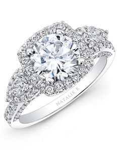 Natalie K Trois Diamants Collection - NK28727-18W Engagement Ring - The Knot