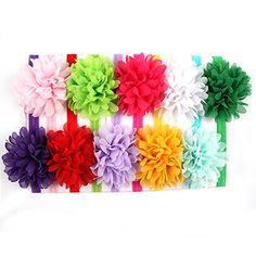 ROEWELL® Baby Headbands /Girl's Hair Bows/ infant Hairband/Headband(10 Pack)