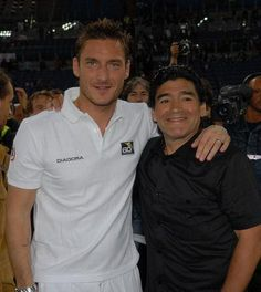 Francesco Totti & Diego Maradona