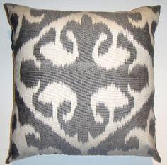 IKT50 Silk/cotton ikat pillow cover