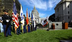 After 82 years of waiting, the San Francisco Veterans Memorial Dedication Ceremony was held during Fleet Week at the Memorial Court in San Francisco.