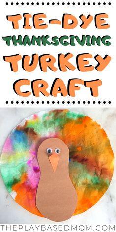 Tie Dye Coffee Filter Thanksgiving Turkey Craft