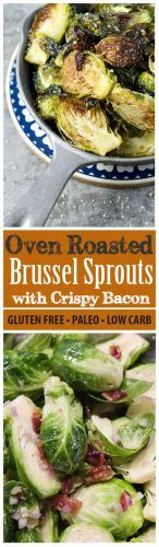 Whether you like brussel sprouts or not, I guarantee you'll be growing fond of them after cooking this easy recipe: low-carb roasted brussel sprouts with bacon. It's unbelievably tasty and healthy! Slice the sprouts in half, coat with olive oil and the other ingredients. Throw in the oven and serve freshly baked. It will instantly erase all your bad memories about brussel sprouts!