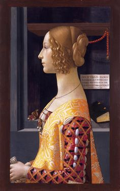 Portrait of Giovanna Tornabuoni by Domenico Ghirlandaio (1488). Thyssen-Bornemisza Museum, Madrid; formerly in the Morgan Library.