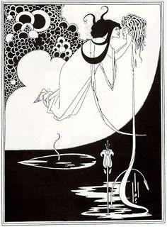 Aubrey Beardsley 'Salome'. Nice association with Oscar Wilde. And so Goth to die of TB aged 28!