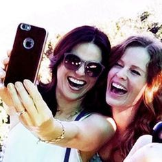 Awesome Lana and Rebecca (Bex) taking an awesome selfie at awesome Butler's Creek in Rio de Janeiro Brazil Monday 6-29-15